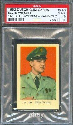 1952 Elvis Presley Rc Psa 9 Mint (pop 1) Highest Grade Rare (army Portrait)