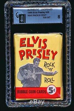 1956 Elvis Presley UNOPENED WAX PACK GAI 8 RARE PACK