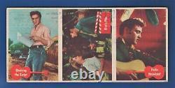1956 Topps ELVIS PRESLEY RARE 3 CARD UN-CUT SALESMAN SAMPLE ONLY 1 ON EBAY
