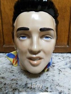 1970's Fleshpot vintage Elvis Presley Life Size Head Bust White Rare 19 inches