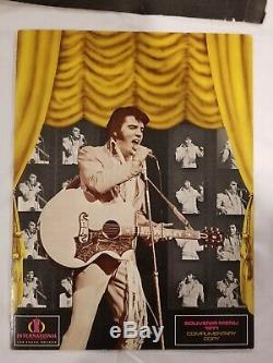 1971 Elvis Presley Souvenir Menu Las Vegas International Hotel Hilton Rare