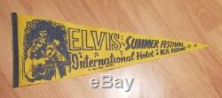 1971 Elvis Presley Summer Festival International Hotel RCA Yellow Pennant Rare
