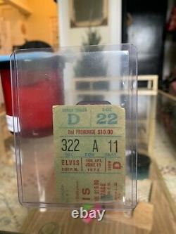 1972 Elvis Presley Authentic Rare Concert Ticket Stub Madison Square Garden
