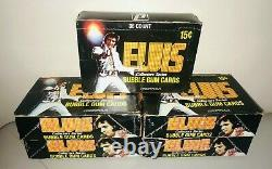 1978 Donruss Elvis Presley Collectible Trading Cards Box 36 Packs Sealed Rare