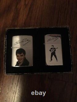 1989 Zippo Elvis Presley Portrait & Signature Lighter Lot Zippo Slim NIB RARE