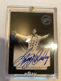 2008 Ap Press Pass Elvis Presley Card Signed By George Kalinsky Rare 7/25