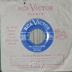26 ELVIS PRESLEY 45's VERY RARE CANADIAN ONLY LIGHT BLUE LABEL MINT- 45