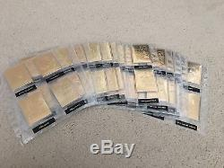 60 Elvis Presley 22 Kt Sculpted Karat Gold Card Set Danbury Mint RARE