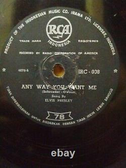 78RPM ELVIS PRESLEY- All Shook Up/Any Way You Want Me-RCA Indonesia ultra rare