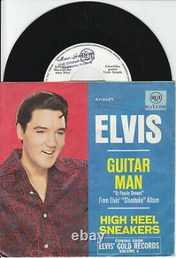 7 45 Elvis Presley Guitar Man RARE GER NM Promo Single RARE Rock'n'Roll
