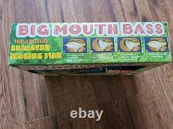 90s Original Big Mouth Bass Gemmy Boxed Vintage Rare Sings 2x Elvis Presley NOS