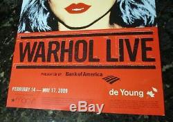 Andy Warhol RARE Blondie Elvis Presley 2009 Poster Two-Sided Pop Art Exhibit NM