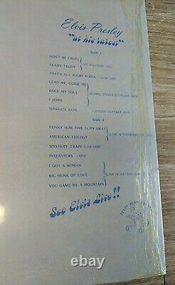 Brand New Sealed Elvis Presley Rock My Soul RARE LABEL 1979 Teddy Bear Records