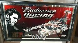 Budweiser Racing Elvis Presley 30th. Bar Mirror New Open Box Extremely RARE