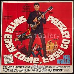 EASY COME EASY GO 1967 Rare huge 6 Sheet Elvis Presley poster filmartgallery six