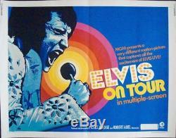 ELVIS ON TOUR half sheet movie poster 22x28 ELVIS PRESLEY RARE 1972