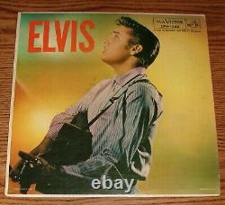ELVIS PRESLEY 1S/1S FIRST PRESSING OF COVER & RECORD LPM-1382 Super Rare Ad Back