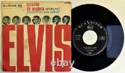 ELVIS PRESLEY 7 45 Wooden Heart 1962 RCA 3- 10126 MEGA RARE UNIQ P/S EX+