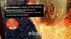 ELVIS PRESLEY ARTIST OF THE CENTURY RED Vinyl 5 LP #'d Box SEALED MINT RARE