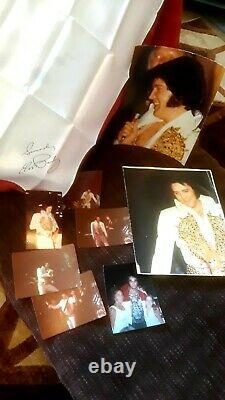 ELVIS PRESLEY CONCERT SCARF AND PICTURES 1977 Beautiful Rare