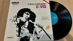 ELVIS PRESLEY C'MON EVERYBODY Mega Rare 12 Promo Mexico LP THE KING