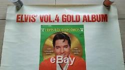 ELVIS PRESLEY Gold Records RARE RCA POSTER AD ORIG 1968 LSP-1707 LSP-3921