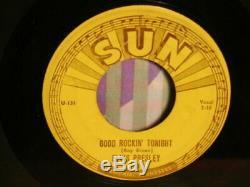 ELVIS PRESLEY Good Rockin Tonight RARE NO SCOTTY +BILL SUN 210 Push Marks VG+