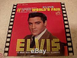 ELVIS PRESLEY IT HAPPENED AT THE WORLDS FAIR 1963 RCA LSP-2697 WithRARE PHOTO