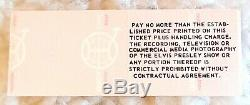 ELVIS PRESLEY In Concert Ticket Asheville, NC May 30 1977 NM Very Rare
