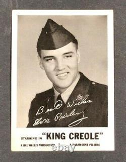ELVIS PRESLEY KING CREOLE COLLECTOR VINTAGE PROMO CARD MOSS NMC Extremely Rare