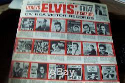 ELVIS PRESLEY ORIGINAL AUTOGRAPH SIGNED RECORD ALBUM LPM 1254 With RARE PD CREDIT