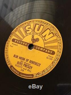 ELVIS PRESLEY ORIGINAL SUN RECORD THATS ALL RIGHT 78 RPM 1954 209 Rare