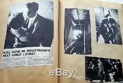 ELVIS PRESLEY Original 1956 Vintage SCRAPBOOK withPhotos & Articles RARE OOP