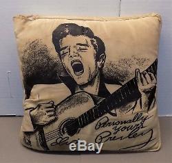 ELVIS PRESLEY PILLOW rock & roll memorabilia 1956 Personally Yours souvenir RARE