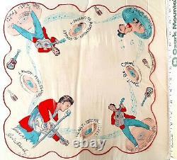 ELVIS PRESLEY SCARF 1956 E. P. E. Original Vintage Concert Fan Scart Utra RARE M