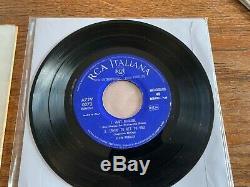 ELVIS PRESLEY SUPER RARE ITALIANA il RE DEL ROCK N ROLL- BLUE LABEL FIRST PRESS