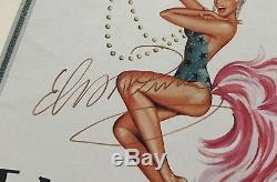 ELVIS PRESLEY Signed 5x8 Program Autographed Framed 9.5x16 JSA LOA VERY RARE