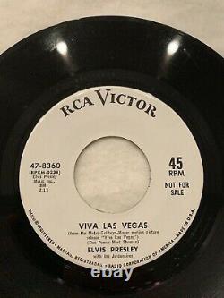 ELVIS PRESLEY VERY RARE ORIGINAL- PROMO, 45 VIVA LAS VEGAS with Jacket