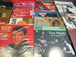 ELVIS PRESLEY VINYL COLLECTION OF MOSTLY RARE OUT OF PRINT TITLES 21 With 32 SIDES