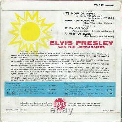 ELVIS PRESLEY it's now or never RCA 45T EP original VINYLE bandeau rouge RARE