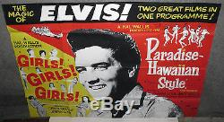 ELVIS PRESLEY original rare poster GIRLS! GIRLS! GIRLS! /PARADISE HAWAIIAN STYLE