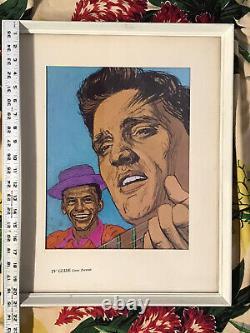 ELVIS PRESLEY w FRANK SINATRA 1960 HTF RARE VINTAGE TV GUIDE COVER PORTRAIT