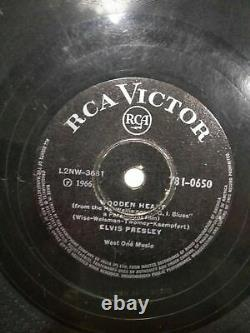 ELVIS PRESLEY wooden heart/puppet on string INDIA RARE 78 RPM RECORD 10 G+