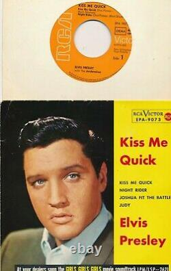 EP 1962 / 1969 Elvis Presley KISS ME QUICK RCA EPA 9073 RARE ORANGE LABELS EX