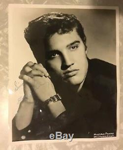 Elvis 1956 Rare Moss Photo 8x10 Memphis / Graceland