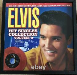 Elvis #1 Hit Singles Collection Red Vinyl 45rpm withPicture Sleeves Vol Two RARE