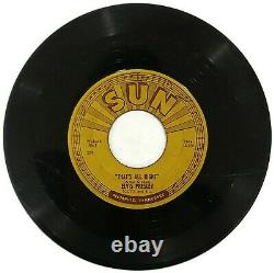 Elvis Blue Moon Of Kentucky/That's All Right 45 OG Misprint Push Marks Rare