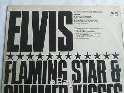 Elvis Flaming Star Summer Kisses orange label mega rare vinyl record