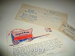 Elvis Mgr. Parker Letter & Rare Blue Hawaii Stamped Envelope to Fan Club 4-20-62