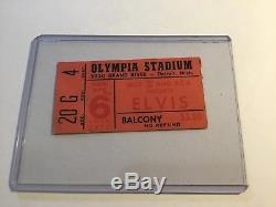 Elvis On Tour 1972 Concert Ticket Stub Rare